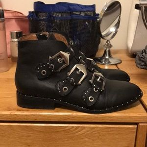 Western style Moto boots